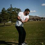 Adam Esposito golfing in Boise, Idaho